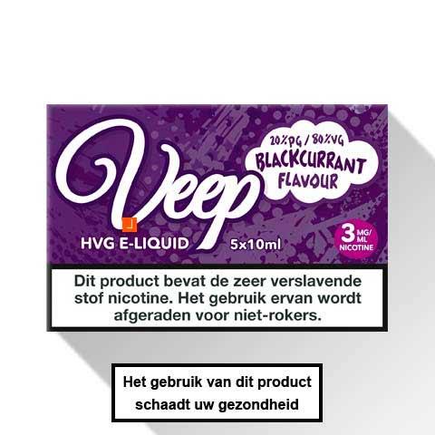 Veep Blackcurrant E-liquid 5 x 10ml