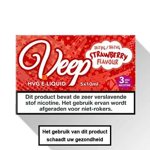 Veep Strawberry E-liquid 5 x 10ml