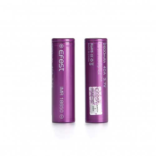 Efest 18650 Batterij 2600mAh 40A (2 St.)